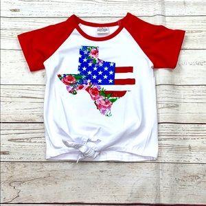 Girls Texas tie Boutique shirt